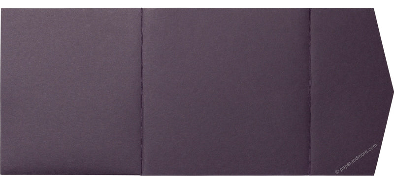 Purple Eggplant Solid Pocket Invitation Card, 6 1/4 Himalaya - Paperandmore.com