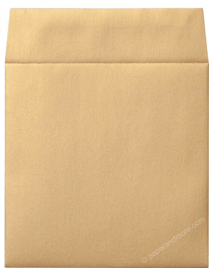 "6 1/2"" Square Gold Metallic Envelopes (6 1/2"" x 6 1/2"") - Paperandmore.com"