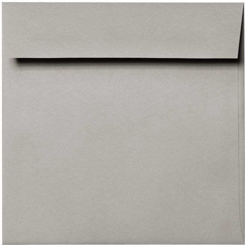 "6 1/2"" Square Gray Smoke Solid Envelopes (6 1/2"" x 6 1/2"") - Paperandmore.com"