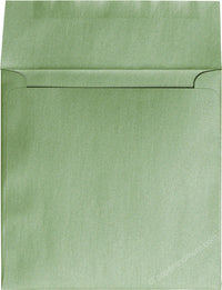 "6 1/2"" Square Green Fairway Metallic Envelopes (6 1/2"" x 6 1/2"") - Paperandmore.com"