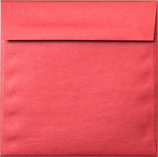 "6 1/2"" Square Jupiter Red Metallic Envelopes (6 1/2"" x 6 1/2"") - Paperandmore.com"