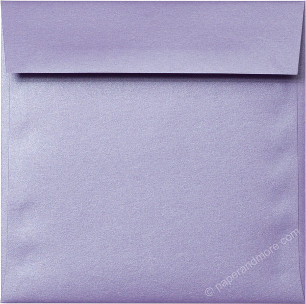 "6 1/2"" Square Lavender Metallic Envelopes (6 1/2"" x 6 1/2"") - Paperandmore.com"