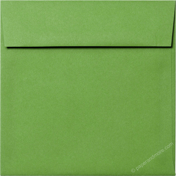 "6 1/2"" Square Meadow Green Solid Envelopes (6 1/2"" x 6 1/2"") - Paperandmore.com"