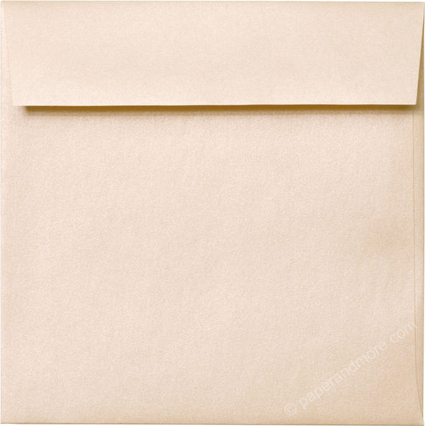 "6 1/2"" Square Peach (Coral) Metallic Envelopes (6 1/2"" x 6 1/2"") - Paperandmore.com"