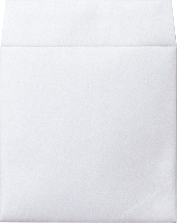 "6 1/2"" Square Pearl White Metallic Envelopes (6 1/2"" x 6 1/2"") - Paperandmore.com"