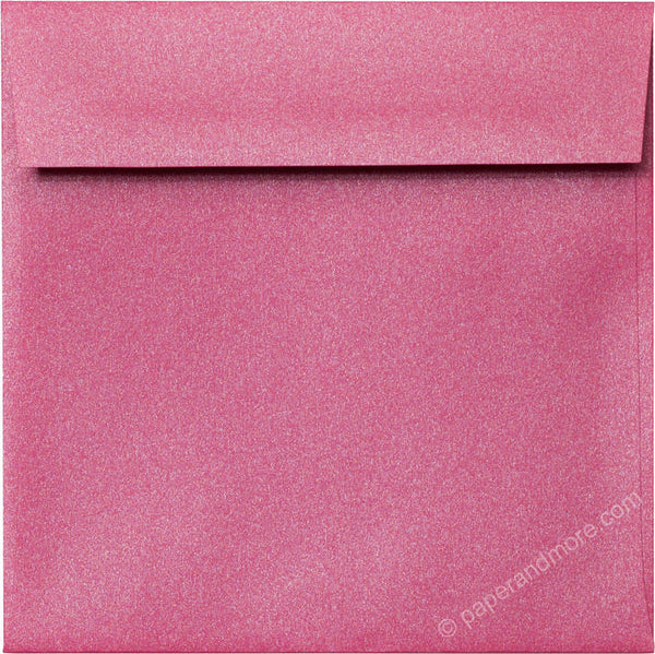 "6 1/2"" Square Pink Azalea Metallic Envelopes (6 1/2"" x 6 1/2"") - Paperandmore.com"