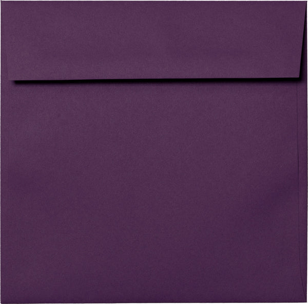 "6 1/2"" Square Purple Eggplant Solid Envelopes (6 1/2"" x 6 1/2"") - Paperandmore.com"