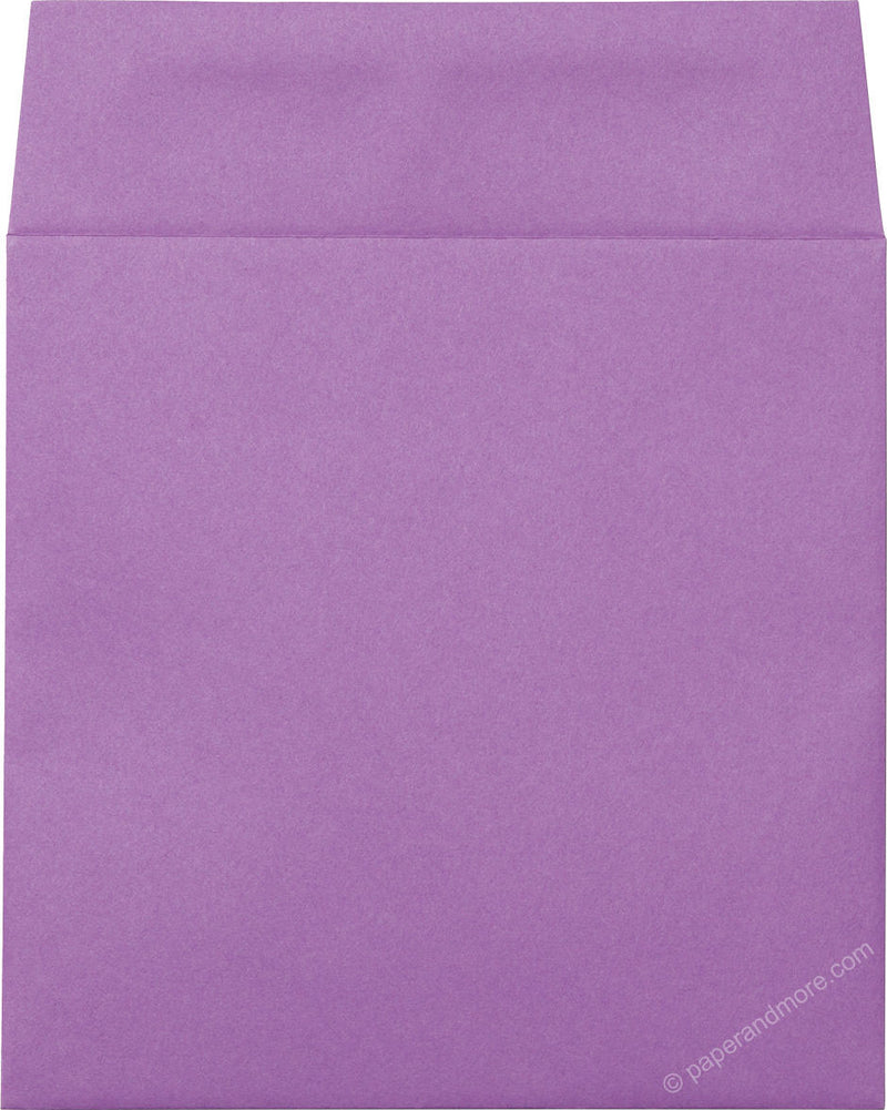 "6 1/2"" Square Purple Grape Solid Envelopes (6 1/2"" x 6 1/2"") - Paperandmore.com"