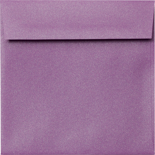 "6 1/2"" Square Purple Punch Metallic Envelopes (6 1/2"" x 6 1/2"") - Paperandmore.com"