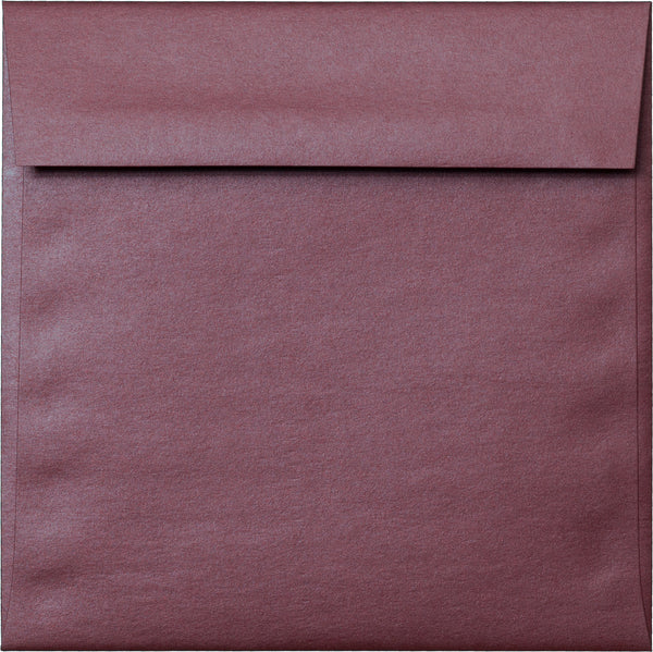 "6 1/2"" Square Ruby Purple Metallic Envelopes (6 1/2"" x 6 1/2"") - Paperandmore.com"
