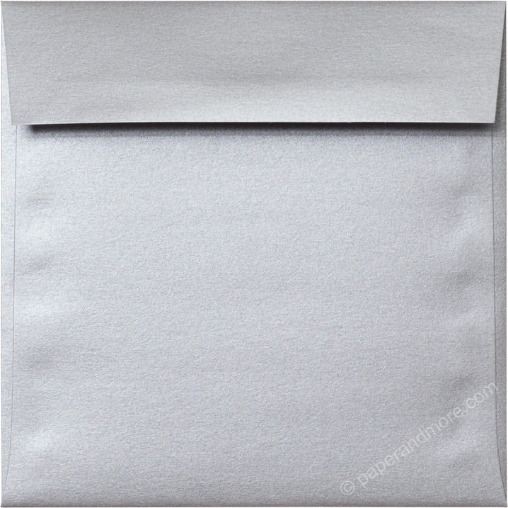 "6 1/2"" Square Silver Metallic Envelopes (6 1/2"" x 6 1/2"") - Paperandmore.com"