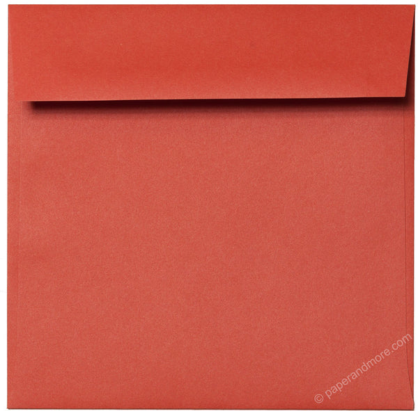 "6 1/2"" Square Sunset Orange Solid Envelopes (6 1/2"" x 6 1/2"") - Paperandmore.com"