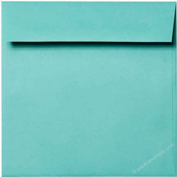 "6 1/2"" Square Tiffany Blue Solid Envelopes (6 1/2"" x 6 1/2"") - Paperandmore.com"