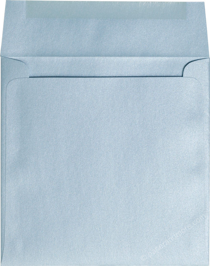 "6 1/2"" Square Topaz Blue Metallic Envelopes (6 1/2"" x 6 1/2"") - Paperandmore.com"