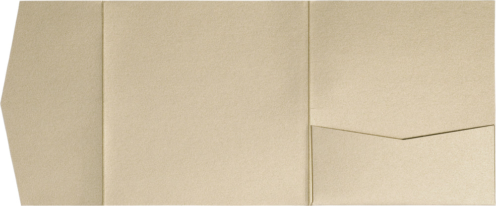 Beige Sand Metallic Pocket Invitation Card, 6 1/4 Himalaya