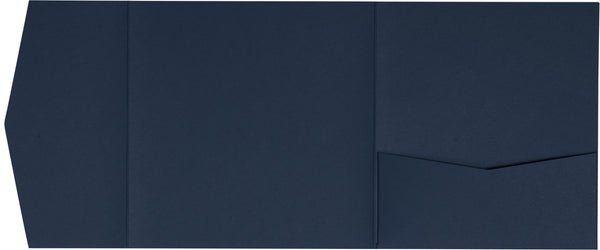 Blazer Blue Solid Pocket Invitation Card, 6 1/4 Himalaya