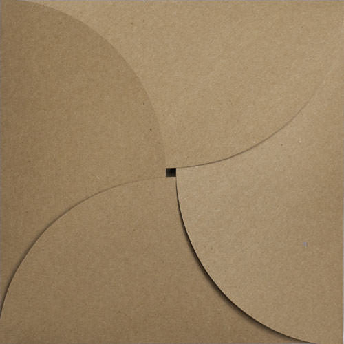 "Kraft Brown 130# Recycled Petal Card, Square 6 1/4"" - Paperandmore.com"