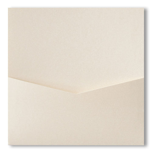 Champagne Cream Metallic Pocket Invitation Card, 6 1/4 Denali - Paperandmore.com