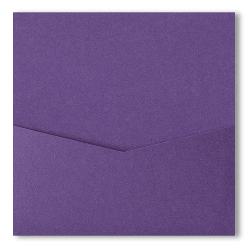 Dark Purple Solid Pocket Invitation Card, 6 1/4 Denali