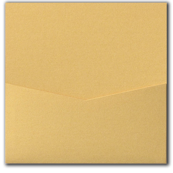 Gold Metallic Pocket Invitation Card, 6 1/4 Denali