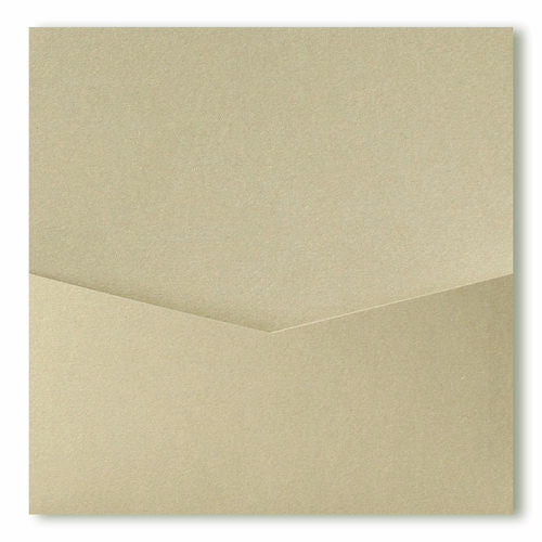 Gold Leaf Metallic Pocket Invitation Card, 6 1/4 Denali