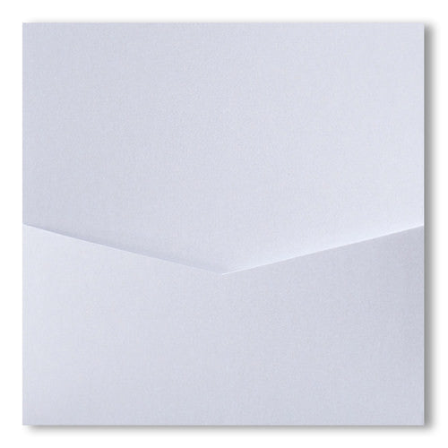 Pearl White Metallic Pocket Invitation Card, 6 1/4 Denali