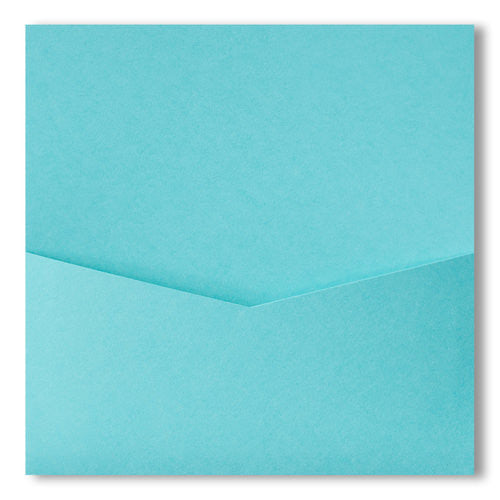 Tiffany Blue Solid Pocket Invitation Card, 6 1/4 Denali - Paperandmore.com