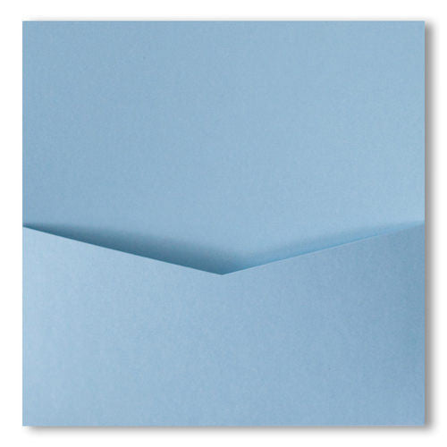 Topaz Blue Metallic Pocket Invitation Card, 6 1/4 Denali