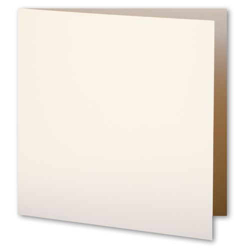 Classic Natural Cream Solid Invitation Card, Sq 6 1/4