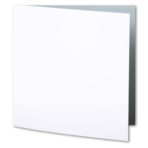 Classic White Solid Invitation Card, Sq 6 1/4