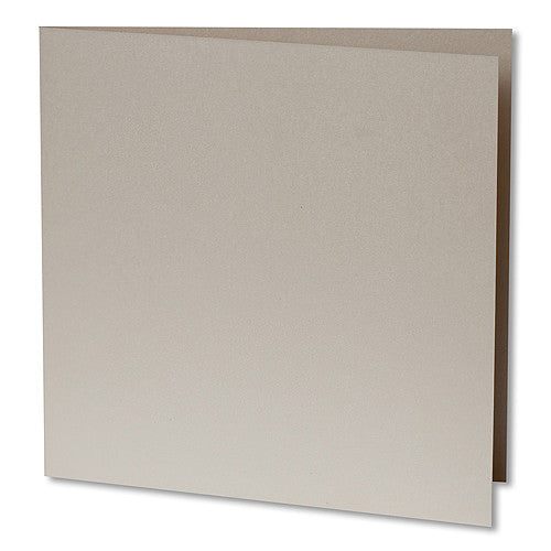 Champagne Cream Metallic Invitation Card, Sq 6 1/4