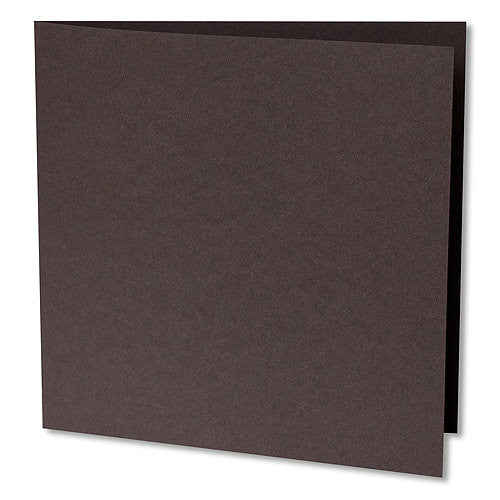 "Chocolate Brown Solid Invitation Card, Sq 6 1/4"" Folded - Paperandmore.com"