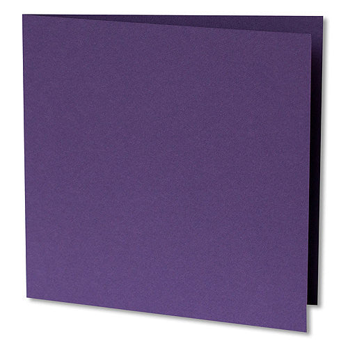 "Dark Purple Solid Invitation Card, Sq 6 1/4"" Folded"