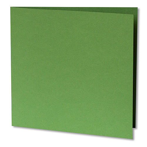Meadow Green Solid Invitation Card, Sq 6 1/4