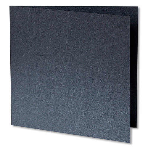 Onyx Black Metallic Invitation Card, Sq 6 1/4