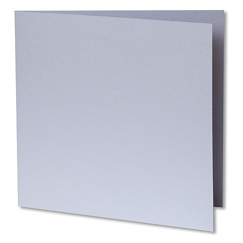 Pearl White Metallic Invitation Card, Sq 6 1/4