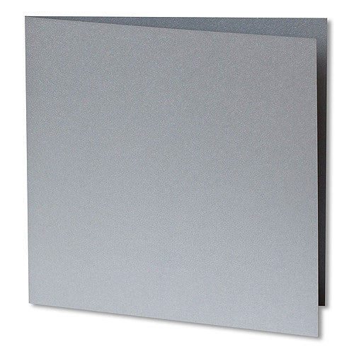 Silver Metallic Invitation Card, Sq 6 1/4