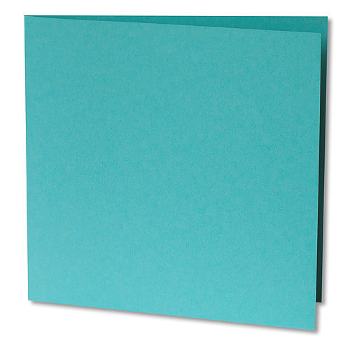 "Tiffany Blue Solid Invitation Card, Sq 6 1/4"" Folded - Paperandmore.com"