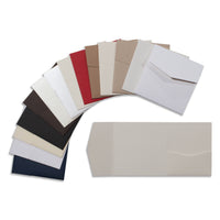 "6 1/4"" Square Himalaya Linen, Recycled & Felt Pocket Cards Sampler Pack - Paperandmore.com"