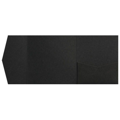 Black Solid Pocket Invitation Card, 6 1/4 Himalaya - Paperandmore.com
