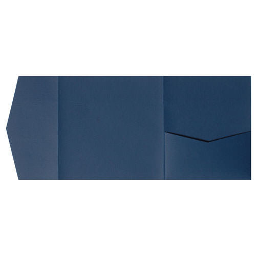 Blazer Blue Linen Pocket Invitation Card, 6 1/4 Himalaya - Paperandmore.com