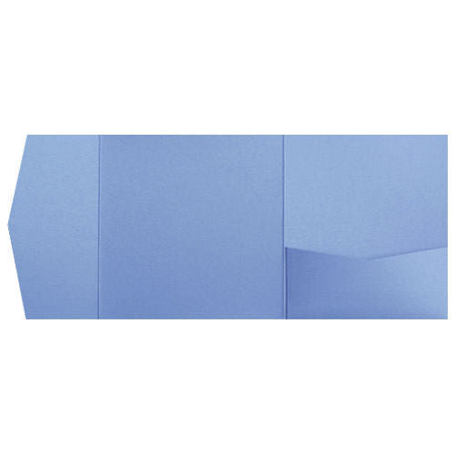 Blue Vista Metallic Pocket Invitation Card, 6 1/4 Himalaya