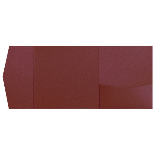Burgundy Solid Pocket Invitation Card, 6 1/4 Himalaya - Paperandmore.com