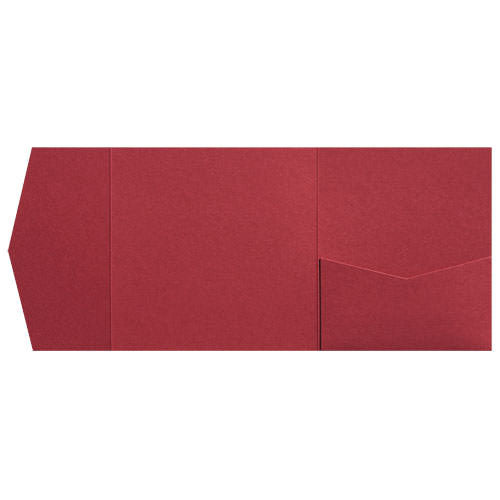 Crimson Red Metallic Pocket Invitation Card, 6 1/4 Himalaya - Paperandmore.com
