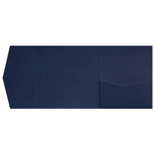 Dark Blue Metallic Pocket Invitation Card, 6 1/4 Himalaya - Paperandmore.com