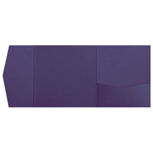 Dark Purple Solid Pocket Invitation Card, 6 1/4 Himalaya - Paperandmore.com