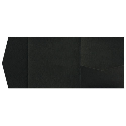 Epic Black Linen Pocket Invitation Card, 6 1/4 Himalaya - Paperandmore.com