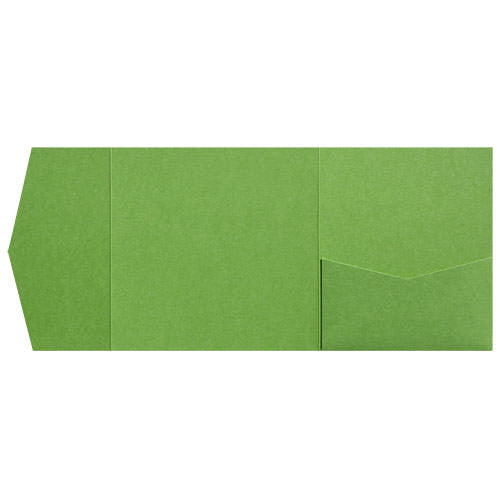 Green Fairway Metallic Pocket Invitation Card, 6 1/4 Himalaya - Paperandmore.com