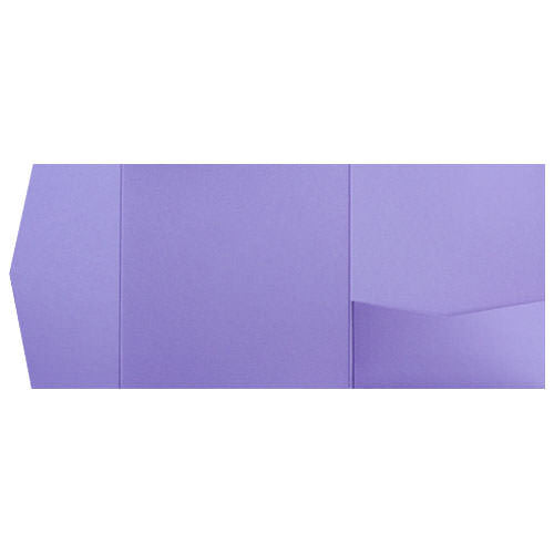 Lavender Metallic Pocket Invitation Card, 6 1/4 Himalaya - Paperandmore.com