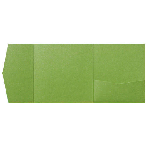 Meadow Green Solid Pocket Invitation Card, 6 1/4 Himalaya - Paperandmore.com